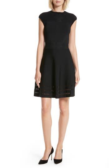 Ted Baker London Aurbray Knit Skater Dress, Black