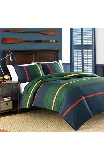 Nautica Heritage Classic Duvet Cover & Sham Set, Size Full/Queen - Blue