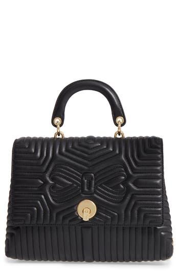 Ted Baker London Vivida Quilted Leather Shoulder Bag - Black