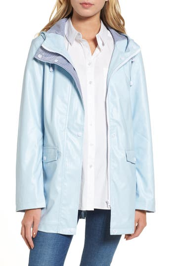 Women's Dorothy Perkins Raincoat, Size 12 US / 16 UK - Blue