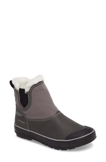 Keen Elsa Chelsea Waterproof Faux Fur Lined Boot- Grey
