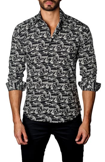 Men's Jared Lang Trim Fit Sedans Sport Shirt