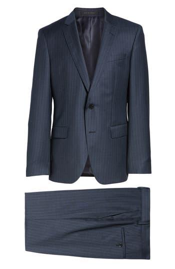 Men's Boss Huge/genius Trim Fit Stripe Wool Suit