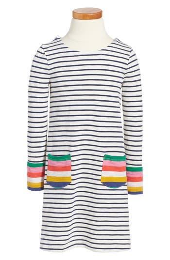 Girl's Mini Boden Stripy Jersey Dress