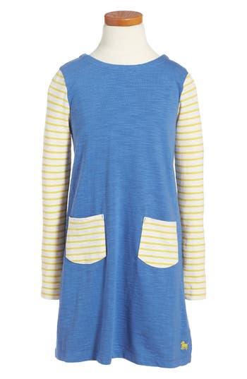 Toddler Girl's Mini Boden Stripy Jersey Dress