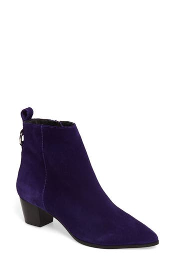 Topshop Matcha Pointy Toe Bootie - Purple