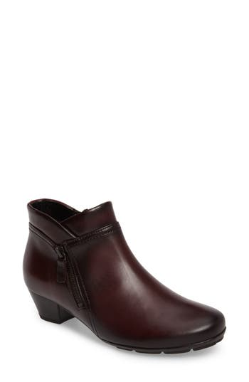 Gabor Classic Ankle Boot, Burgundy