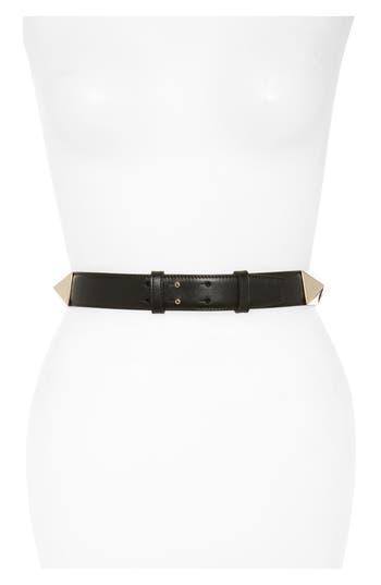 Women's Valentino Garavani Lovestud Calfskin Leather Belt