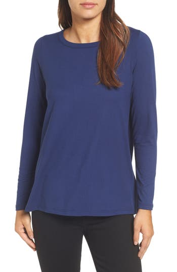 Women's Bobeau High/low Bow Back Top, Size X-Small - Blue