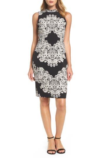 Women's Adrianna Papell Lace Print Sheath Dress