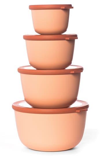 Rosti Mepal Cirqula Set Of 4 Storage Bowls, Size One Size - Pink