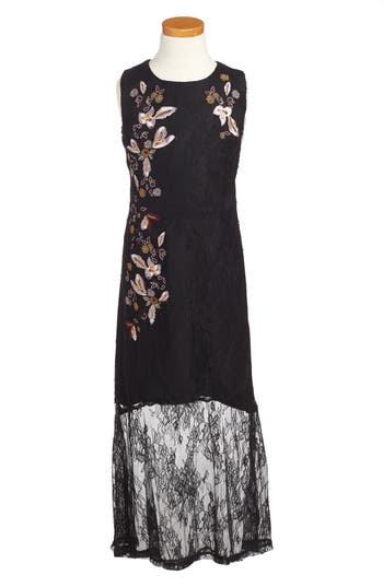 Girl's Bardot Junior Marlee Embroidered Lace Dress
