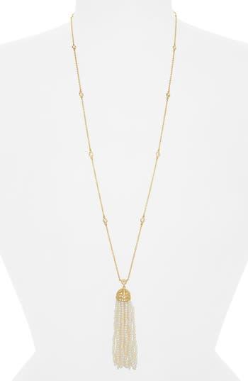 Women's Freida Rothman Audrey Tassel Pendant Pearl Necklace