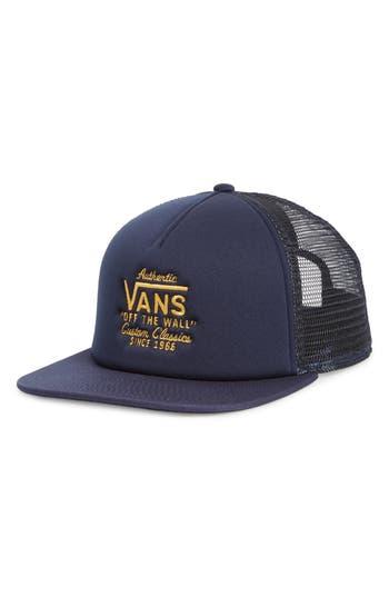 Men's Vans Galer Mesh Trucker Cap - Blue
