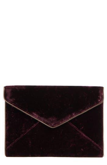 Rebecca Minkoff Leo Velvet Envelope Clutch - Red