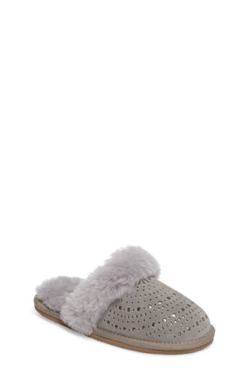 Girl's Ugg Finn Sunshine Perforated Backless Slipper