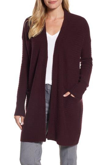 Women's Halogen Ribbed Cashmere Cardigan