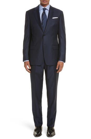 Men's Armani Collezioni G-Line Trim Fit Stripe Wool Suit
