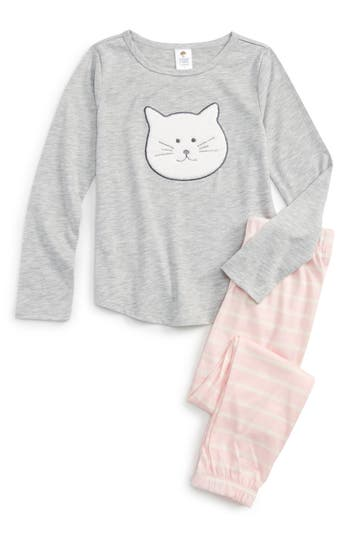 Girl's Tucker + Tate Appliqué Fitted Two-Piece Pajamas