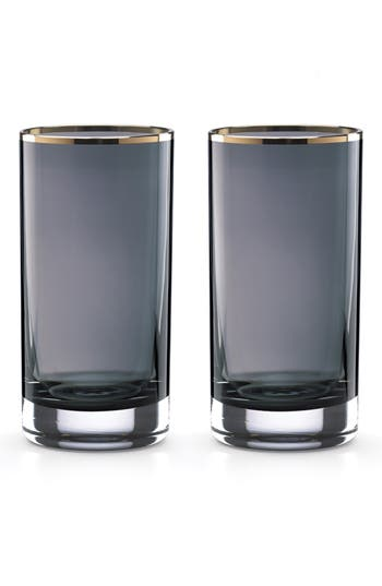 Kate Spade New York Set Of 2 Highball Glasses, Size One Size - Blue