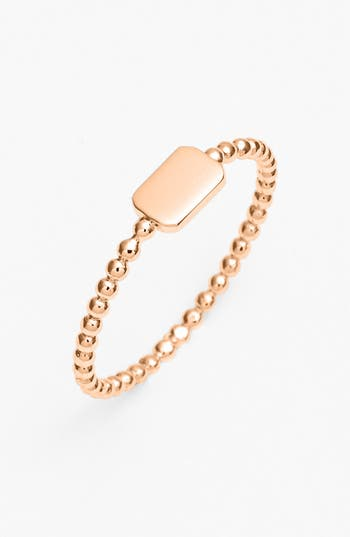 Women's Bony Levy 14K Gold Rectangle Ring (Nordstrom Exclusive)