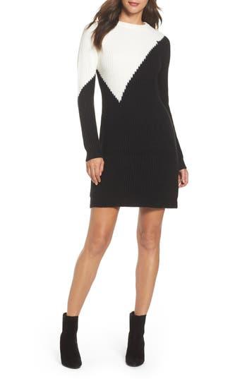 Vince Camuto Colorblock Sweater Dress, Black