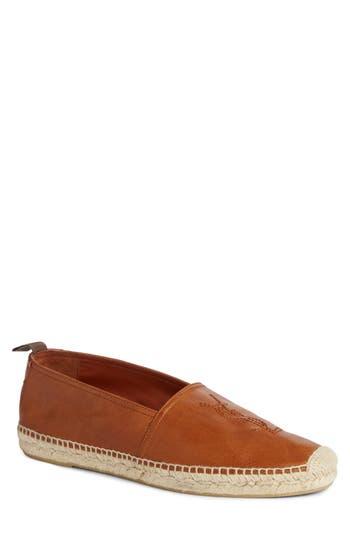 Men's Saint Laurent Espadrille, Size 7US / 40EU - Brown