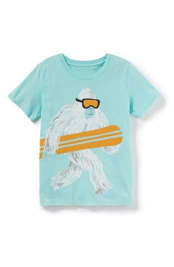 Boy's Peek Yeti Snowboard Graphic T-Shirt, Size S (4-5) - Blue/green