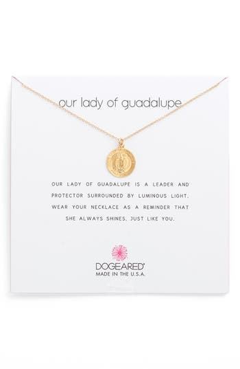 Women's Dogeared Our Lady Of Guadalupe Pendant Necklace