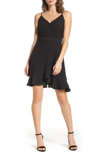 19 Cooper Crepe Skater Dress, Black