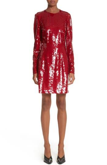 Women's Stella Mccartney Katie Sequin Dress, Size 8 US / 42 IT - Red
