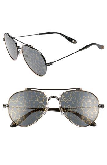 Givenchy 5m Aviator Sunglasses - Black Gold