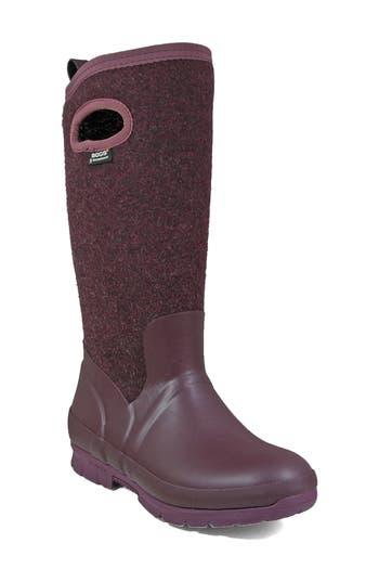 Bogs Crandall Waterproof Tall Boot, Purple