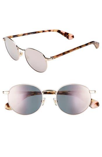 Women's Kate Spade New York Adelais 50Mm Round Sunglasses - Pink Havana