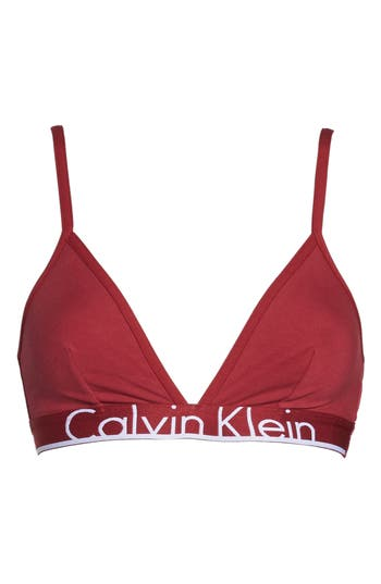 Women's Calvin Klein Triangle Bralette, Size Small - Red