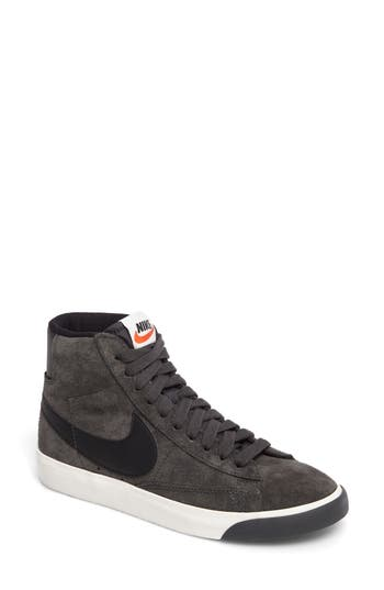 watch f49c6 32e5a Nike Blazer Mid Vintage Sneakers In Glacier Grey  Black  Ivory