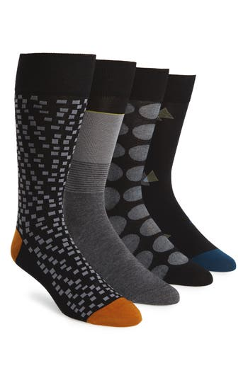 Men's Cole Haan 4-Pack Mixed Pattern Socks