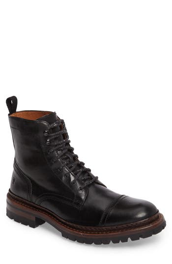 Frye George Cap Toe Boot, Black