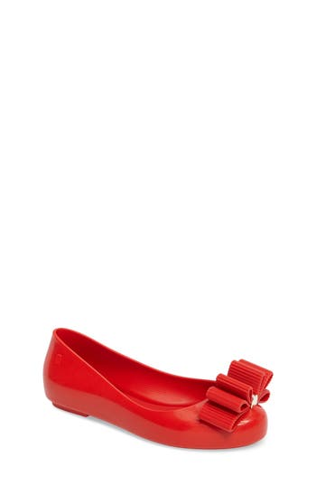 Girl's Mel By Melissa X Jason Wu Space Love Bow Flat, Size 13 M - Red