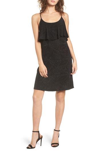 Women's Everly Glitter Popover Dress, Size Small - Black