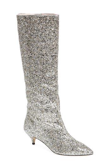 Kate Spade New York Olina Glitter Knee High Boot, Metallic