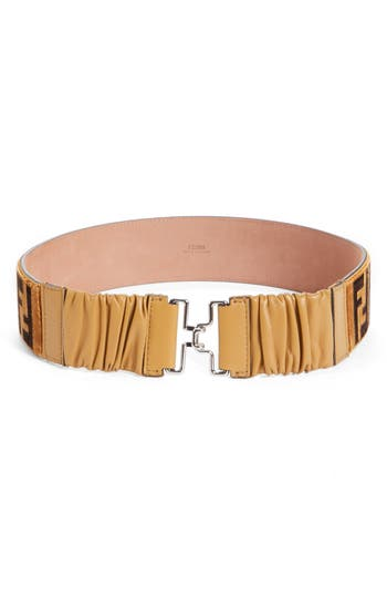 Women's Fendi Logo Velvet Belt