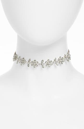 Women's Topshop Flower Crystal Choker