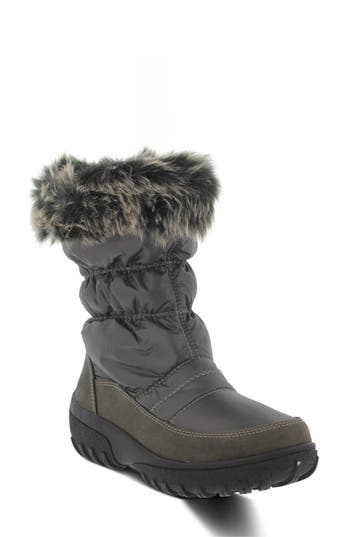 Spring Step Rolim Faux Fur Trim Waterproof Boot - Grey