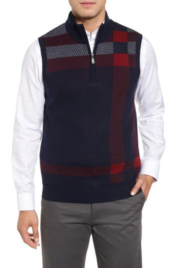 Men's Bobby Jones Oversize Plaid Wool Vest
