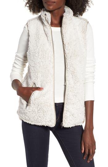 Women's Thread & Supply Arctic Fleece Vest, Size Small - Ivory