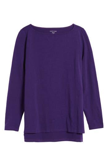 Women's Eileen Fisher Bateau Neck Top, Size XX-Small - Purple