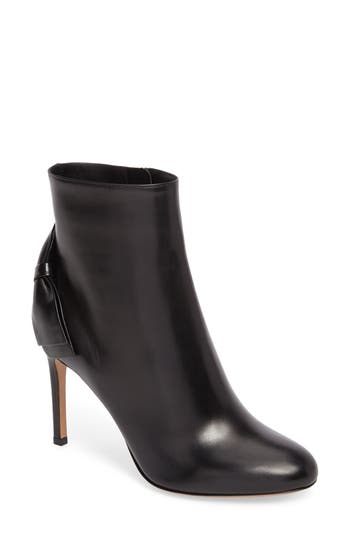Women's Valentino Garavani Pretty Bow Bootie, Size 7US / 37EU - Black