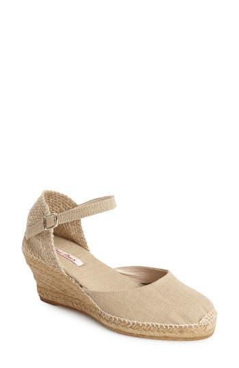 Women's Toni Pons 'Caldes' Linen Wedge Sandal, Size 7-7.5US / 38EU - Grey