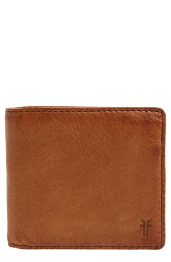 Frye Oliver Leather Wallet - Brown